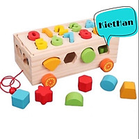Hộp thả hình khối màu sắc- Đồ chơi cho bé