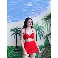 Bikini, Đồ Bơi Đi Biển Hai Mảnh Gọng Chéo Chân Váy Đuôi Cá Secxy AG0630 ODERI