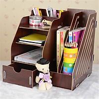 Kệ gỗ để bàn đựng tài liệu sách vở đồ dùng HB-KG01