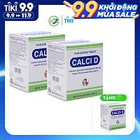 COMBO 2 TẶNG 1 TPCN Viên uống giúp bổ sung canxi và vitamin D3 cho người lớn tuổi,phụ nữ sau mãn kinh và trẻ em đang phát triển chiều cao...-CALCI D-hộp 100 viên