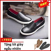 Giày Slip On Nam Aroti Đế Khâu Chắc Chắn Phong Cách Đơn Giản Màu Đen - M498-DEN(L)-DEN