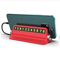 Thẻ ghi số điện thoại kiêm giá để điện thoại trên taplo ô tô - Đỏ