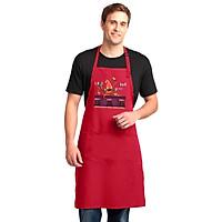 Tạp Dề Làm Bếp In Hình Bạch tuộc pha chế - ABZTU004 – Màu Đỏ
