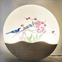 Đèn Trang Trí Gắn Tường Phòng Ngủ, Phòng Khách LED Hình Hoa Đào 3 Màu Ánh Sáng BLACK PAGE