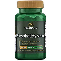 Swanson Phosphatidylserine Memory Brain and Cognitive Health Support Phospholipid Triple-Strength Complex Supplement 300 mg 30 Capsules