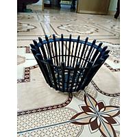 5 Chậu Nhựa Giả Gỗ Trồng Lan Fi 20 , Có Nan Phụ Màu Đen Kích Thước Đường Kính miệng 20 cm, đường kính đáy: 13cm, cao 12 cm