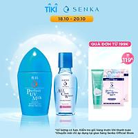 Combo Sữa chống nắng Senka Perfect UV Milk 40ml và Nước tẩy trang Senka Micellar Formula White 70ml