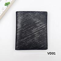 Ví bóp da nam bỏ túi Mẫu ví đứng Hàng xuất dư 12×10 có ngăn bí mật VD01