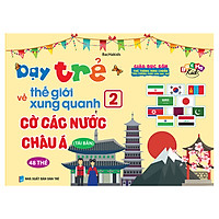 Flashcard Bắc Hà Dạy Trẻ Về Thế Giới Xung Quanh 2 - Cờ Các Nước Châu Á