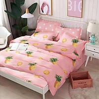 Bộ Drap Không Mền Thương Hiệu Yoona Korea- Pink Pineapple