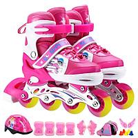 Giày patin trẻ em cao cấp bánh xe PU trượt êm và mượt cả 8 bánh full đèn led -Tặng balo đựng giày chất lượng cùng hãng, đồ bảo hộ 7 món và đầy đủ phụ kiện chơi kèm theo