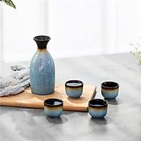 Jiayu waterware wine ceramic clear wine set of 5 sets of wine set (5 sets) blue