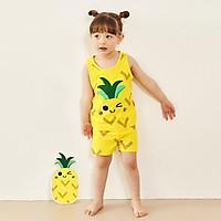 Bộ đồ ba lỗ mặc nhà cotton mịn cho bé gái U4006 - Unifriend Hàn Quốc, Cotton Organic