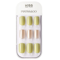 Bộ 30 Móng Tay Gel Tự Dán Press & Go Kiss New York Nail Box - Pear Green (KPNA15KA)