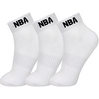 NBA socks men's socks low to help men's socks combed cotton comfortable breathable basketball sports socks 3 pairs of white