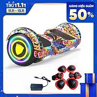 Xe Điện Cân Bằng - Mẫu Mới Bánh 6.5 Inch Tự Cân Bằng, Tích Hợp Đèn LED, Nhạc Bluetooth, Điều Khiển Cầm Tay [Giao Màu Ngẫu Nhiên] - Hàng Chính Hãng