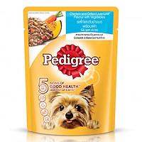 Thức Ăn Cho Chó Pedigree Vị Gà, Gan Nướng Và Rau (80g)