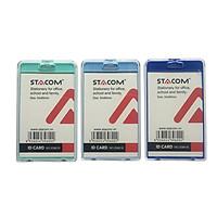 Bộ 6 cái Thẻ đeo bảng tên nhựa PS trong suốt STACOM/ID6618