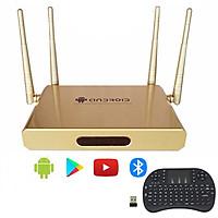 Thiết bị biến tivi thường thành tivi thông minh android tivi box 4 anten OEM kèm bàn phím kiêm chuột mini - Hàng Nhập Khẩu