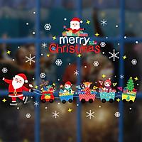 Tranh Decal Dán Kính Trang Trí Cây Thông Giáng Sinh Merry Christmas 04