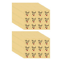 600x Thank You Stickers Love Heart Envelope Gift Round Kraft Paper Seals Labels