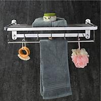 Giá treo khăn inox 304 mã B01C ( Loại Khoan ) - Kệ treo khăn nhà tắm đa năng gấp gọn