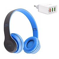 Tai nghe Bluetooth P47 + Tặng Dock Sạc 3 in 1 - 2.1A