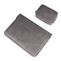 Túi Chống Sốc Bao Da Bảo Vệ Macbook, Laptop 13.3 inch, 14.1-15.4 inch – Kèm Túi Đựng Phụ Kiện Công Nghệ.