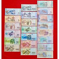 Combo 21 tờ tiền cổ khác nhau của Venezuela,  bộ tiền đẹp nhất thế giới