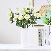 Hoa lụa decor, bó 5 cành hoa cát tường cao cấp trang trí phòng khách, quầy lễ tân sang trọng tự nhiên CT-05 (chưa kèm bình/lọ)