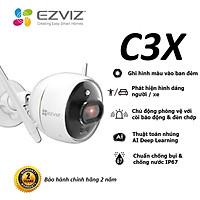 Camera EZVIZ C3X 1080P, WI-FI Không Dây, IP67 Ngoài Trời, Ghi Gình Ban Đêm Có Màu Không Cần Đèn, Tích Hợp AI Phát Hiện Hình Dáng Người/ Xe, Chuẩn Nén Video H.265--Hàng Chính Hãng