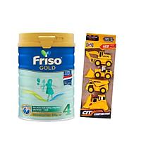 Sữa Bột Friso Gold 4 850g Dành Cho Trẻ Từ 2 - 6 Tuổi + Tặng Đồ Chơi Công Trình