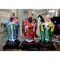 Bộ tượng Tam Đa-Ba ông Phúc Lộc Thọ cao 19cm