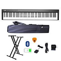 Đàn Piano Điện Konix PH88C - Đàn, Chân, Bao, Nguồn 88 Phím nặng Cảm ứng lực - Midi Keyboard Controllers - Kèm Móng Gẩy DreamMaker (Kết nối máy tính và điện thoại, Loa kép, Bluetooth, Pin sạc, Loa lớn)