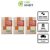Combo 3 Gạo Hữu Cơ Ecoba Sakura - Ecoba Organic Japonica Rice 1kg