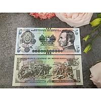 Tiền cổ Honduras 5 Lempiras sưu tầm , tiền quốc gia châu Mỹ, mới 100% UNC, tặng túi nilon bảo quản