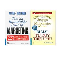 Combo 2 Cuốn Sách: 22 Quy Luật Bất Biến Trong Marketing + Bí Mật Tư Duy Triệu Phú