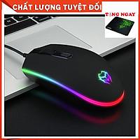 Chuột máy tính đèn led Tặng miếng lót  chuột