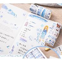 Cuộn băng keo Washi hình dán cute trang trí album, sổ, đồ dùng học tập dễ thương, giá rẻ cho học sinh