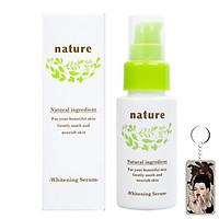 Tinh chất dưỡng trắng da Naris Nature Whitening Serum Nhật Bản 30ml tặng kèm móc khóa