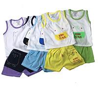Bộ quần áo côc tay mùa hè 100% cotton hàng việt nam chất vải mềm bộ quần ,áo cộc tay cotton  mịn thoáng mát