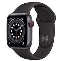 Đồng Hồ Thông Minh Apple Watch Series 6 LTE GPS + Cellular Aluminum Case With Sport Band (Viền Nhôm & Dây Cao Su) - Hàng Chính Hãng VN/A