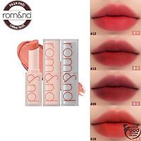 [Phiên bản mới] Son Thỏi Siêu Lì Cao Cấp Hàn Quốc Romand New Zero Matte Lipstick 3g