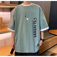 Áo thun tay lỡ form rộng họa tiết CALINANNA - Unisex nam nữ đều mặc được