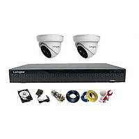 Camera Longse TVI 2.0MP 1080p bộ 2 mắt (Nhựa)