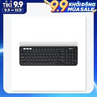 Bàn phím văn phòng không dây chế độ kép kích thước đầy đủ siêu mỏng đa thiết bị Logitech K780 Wireless Office Keyboard BT&Unifying