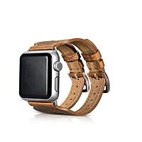 Dây Classic Double Buckle Cuff Genuine Leather cho Apple Watch - Hàng Chính Hãng