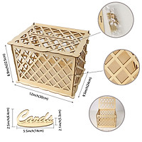 DIY Wooden Wedding Card Post Box with Lock Collection Gift Card Boxes Weddings