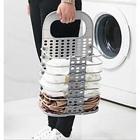 Rổ treo quần áo xếp gọn, giỏ treo đồ đa năng tặng kèm miếng dán hút chân không chắc chắn GD186-RTDoXG