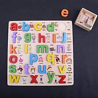 Bảng Học Chữ Cái Tiếng Anh Nổi Có Phiên Âm Và Hình Ảnh Minh Họa Bằng Gỗ Cho Bé Học Song Ngữ